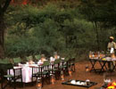 Chobe Under Canvas dining