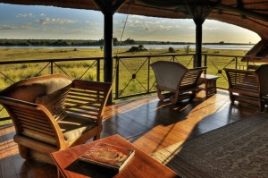 Chobe Savanna Lodge deck