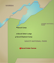 Savuti Under Canvas map
